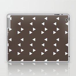 Cappuccino Brown Triangle Laptop & iPad Skin