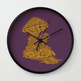 SHROOM SWAMP - PURPLE Wall Clock