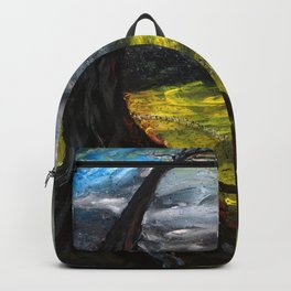 The Red House (oil on canvas) Backpack