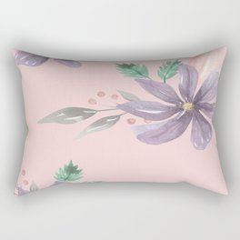 Floral Pattern Prints art  Rectangular Pillow