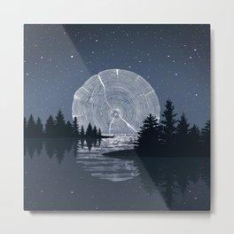 Moon Rise over the Lake Metal Print