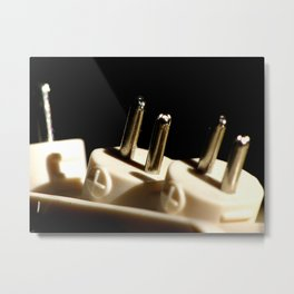 Electronic Adapter Macro Metal Print