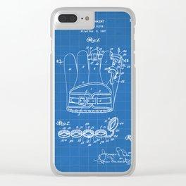 Baseball Glove Patent - Baseball Art - Blueprint Clear iPhone Case