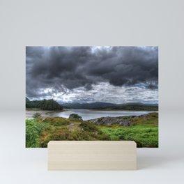 Coast view in Scotland Mini Art Print