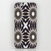 chocolate iPhone & iPod Skins featuring Chocolate Flower Mandala Pattern by 2sweet4words Designs