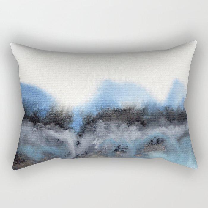 Watercolor abstract landscape 11 Rectangular Pillow
