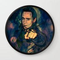 loki Wall Clocks featuring Loki by Sirenphotos