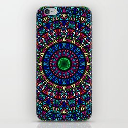 Colorful Church Window Mandala iPhone Skin