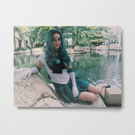 Deep Aqua Submerge Metal Print