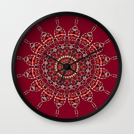 Cozy Cabin (burgundy red) Wall Clock