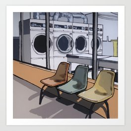 Coin Laundry Art Print