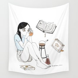 Inktober / alchemist Wall Tapestry