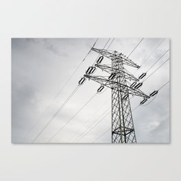 Electric power transmission Canvas Print