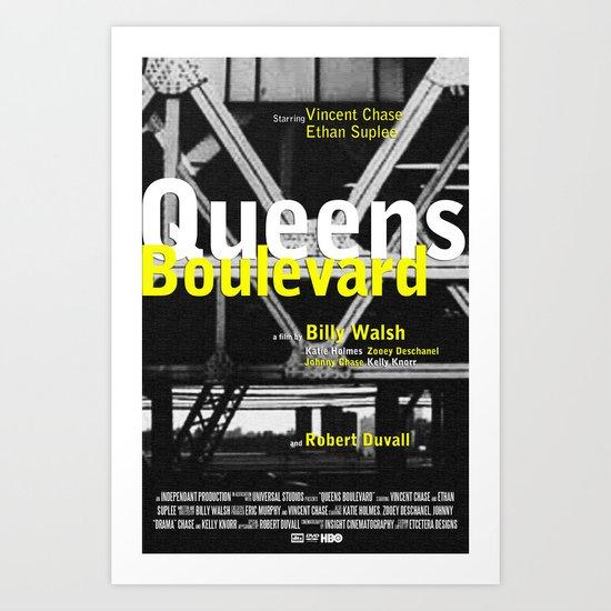 Queens Boulevard Replica Movie Poster Art Print