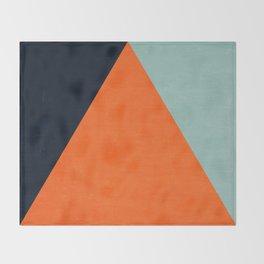 mod triangles - autumn Throw Blanket