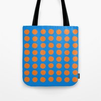 polka Tote Bags featuring Polka  by Ruth Shaffer Art and Designs