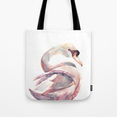 Swan Floating Away Tote Bag