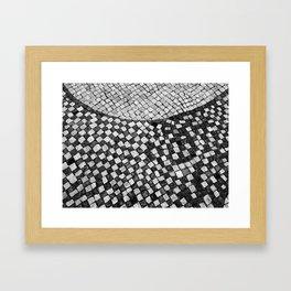 Mosaico A calçada portuguesa Framed Art Print