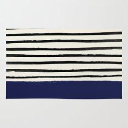Navy x Stripes Rug