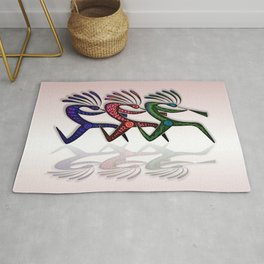 RUNNING KOKOPELLI Rug
