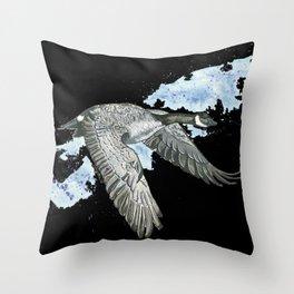 Honker - Black Throw Pillow
