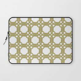 Gold & White Knotted Design Laptop Sleeve