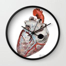 Geometric Heart Wall Clock