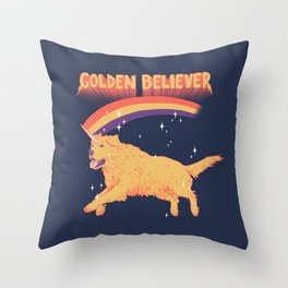 Golden Believer Throw Pillow