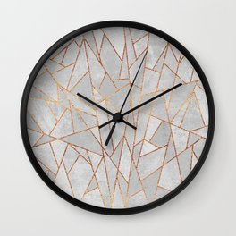 Shattered Concrete Wall Clock