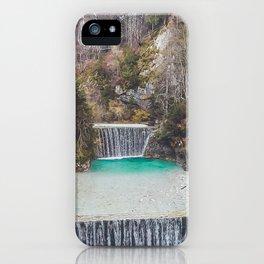 Waterfalls near Kranjska Gora, Slovenia iPhone Case