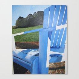 Adirondack Chair Acrylic Painting - Beach Decoration Canvas Print