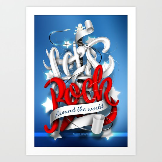 Let's Rock Around The World Art Print