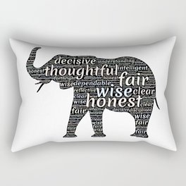 Elephant with words Rectangular Pillow