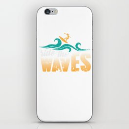 Surfer , beach vacation,ocean, surfing the waves iPhone Skin
