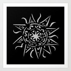 Celtic sun Art Print
