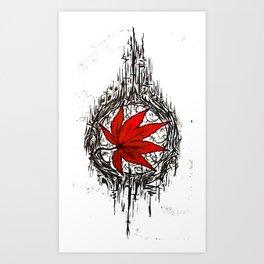 Tribe Maple Art Print
