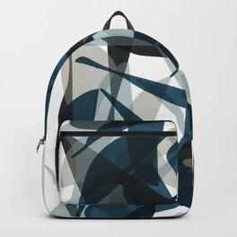 Abstract Whale Monotone Backpack