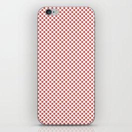 Grenadine Polka Dots iPhone Skin