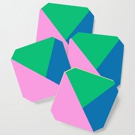 Bright and Bold Minimalist Graphic Design Coaster