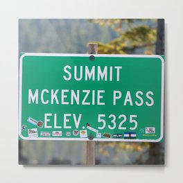 McKenzie Pass Summit Oregon USA Metal Print