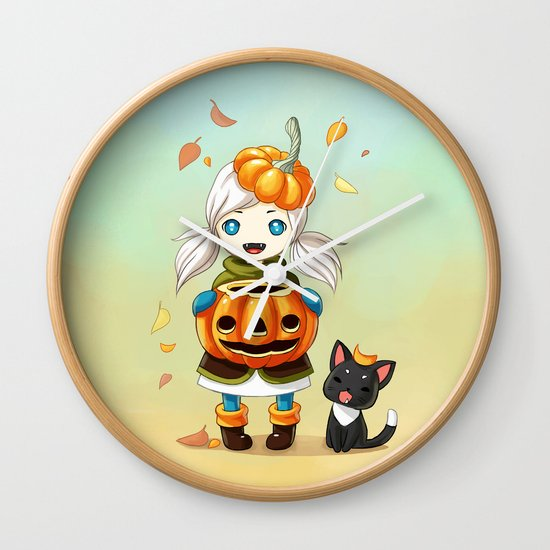Pumpkin 2 Wall Clock