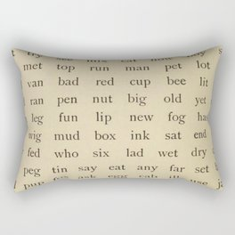 Vintage Words Rectangular Pillow