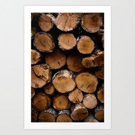 Wood Stack Art Print