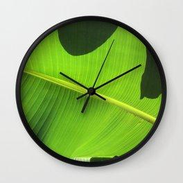 Banana Leaf, Dark Shadows Wall Clock