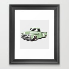Rat Rod Truck Framed Art Print