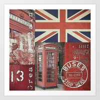 british Art Prints featuring Very British by LebensART