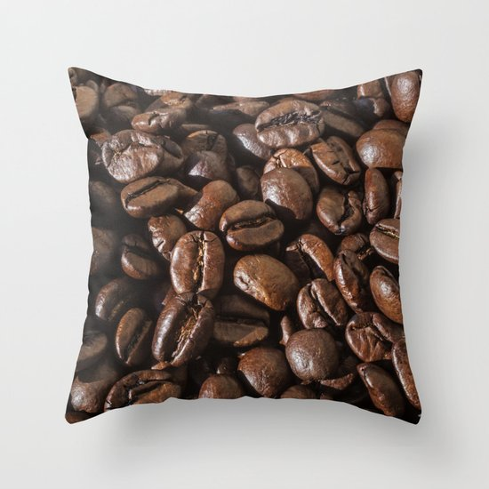coffee bean macro II Throw Pillow