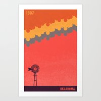oklahoma Art Prints featuring Oklahoma by AtomicChild