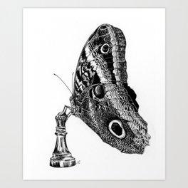 Butterfly Chess Queen Art Print