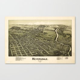 Aerial View of Meyersdale, Pennsylvania (1900) Canvas Print